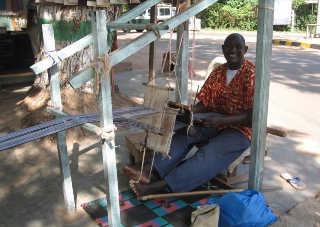 Gambia - Weaving - image copyright Africa Fashion Guide