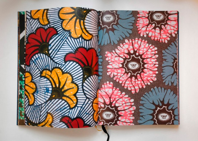Vlisco Fabric book - internal view - copyright Vlisco 2012