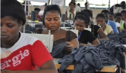 At an apparel factory in Ghana, workers are making clothing for export - image courtesy West Africa Trade Hub