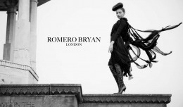 ROMERO BRYAN AW12 Black Knotted dress