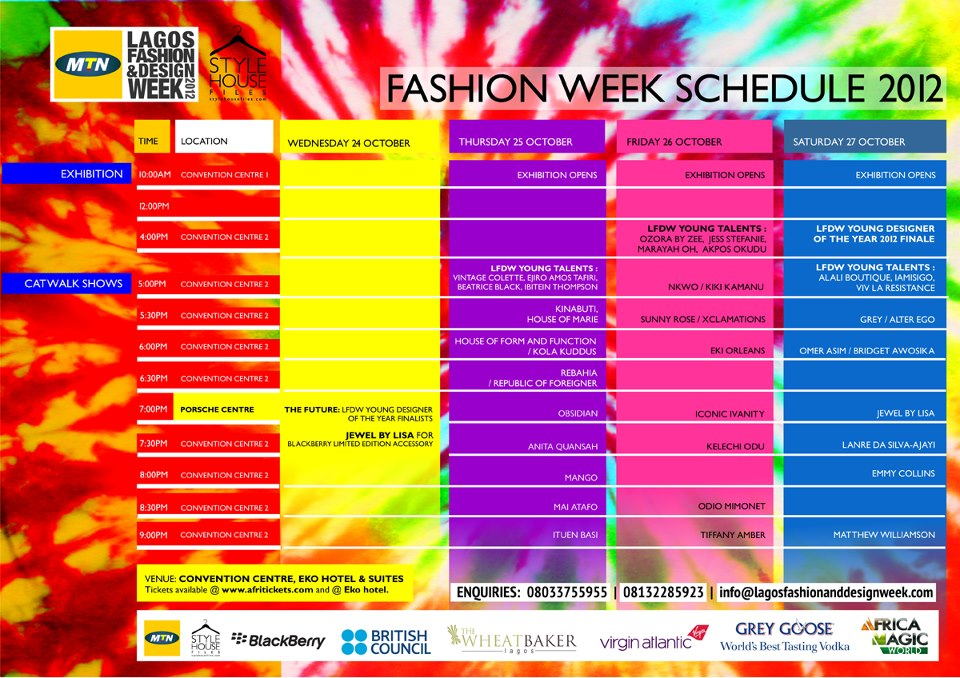 lagos fashion and design week announces designers and schedule for