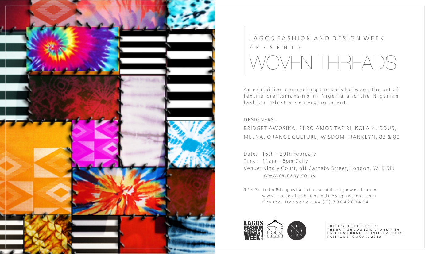 Lagos Fashion And Design Week Lfdw To Host Woven Threads Fashion Exhibition In London Africa Fashion Guide