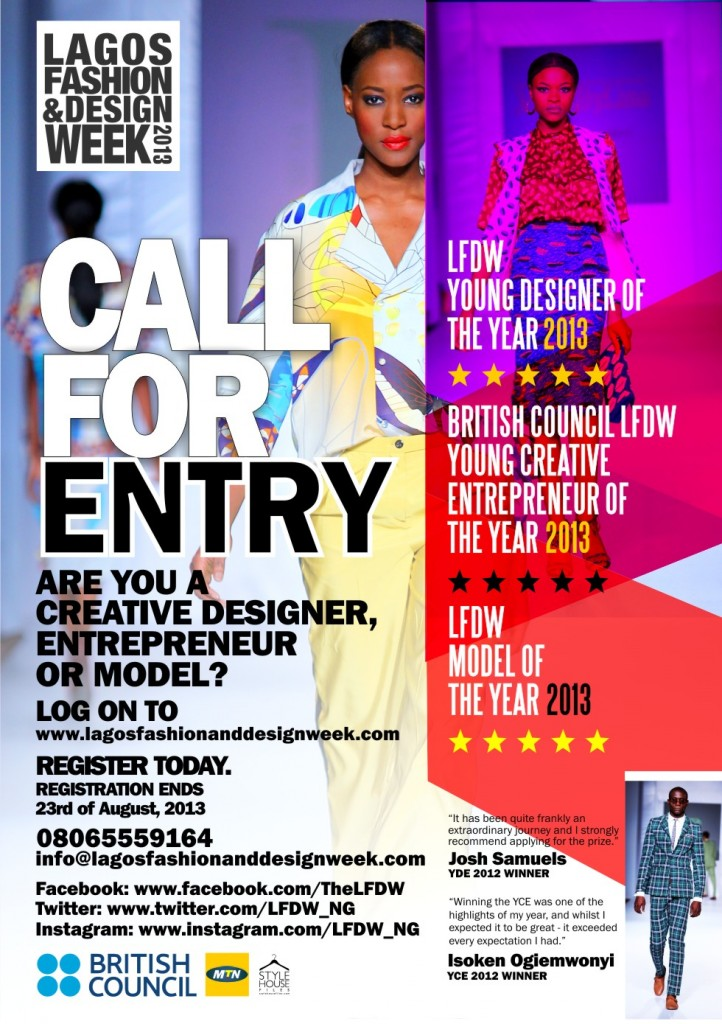 Lagos Fashion And Design Week Open Entries For The Young Creative Entrepreneur Young Designer Of The Year Awards 2013 Africa Fashion Guide