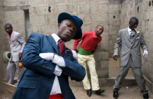 Daniele Tamagni, Playboys of Bacongo,2007 - 2008. Lambda c-print , 74.2 x 126.5 cm. Courtesy October Gallery London
